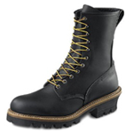 Men's 9-inch Logger-Lineman Boot Black