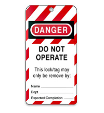 LOCKOUT / TAGOUT TAGS.